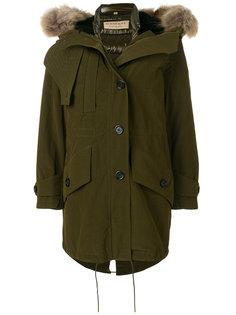 пальто-пуховик с искусственным мехом Burberry