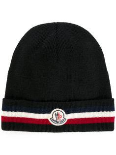 полосатая шапка Moncler
