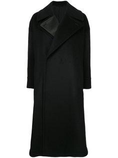 удлиненное пальто с двойными лацканами The Reracs