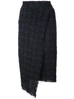 твидовая юбка в клетку Oscar de la Renta