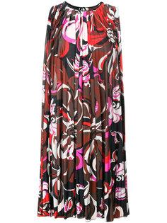 платье шифт с абстрактным принтом  Emilio Pucci