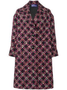 классическое пальто с абстрактным узором Emilio Pucci