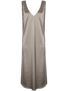 атласное платье-миди Beaufille