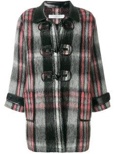клетчатое пальто в стиле оверсайз Philosophy Di Lorenzo Serafini