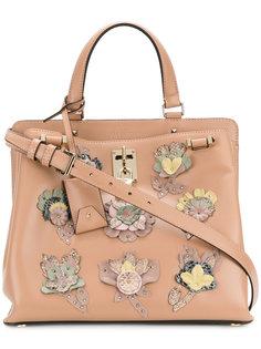сумка-тоут Valentino Garavani Joylock с цветочной аппликацией Valentino