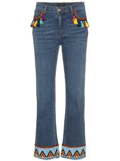 джинсы с кисточками и вышивкой Etro