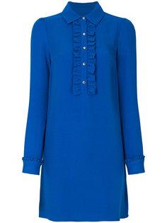 платье-рубашка с оборкой спереди  Michael Michael Kors