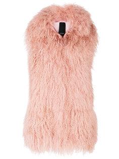 пальто без рукавов с мехом Numerootto