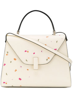 сумка-тоут с цветочным принтом Valextra