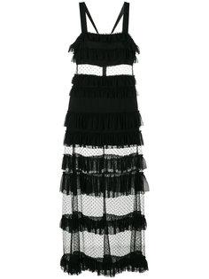 платье с панельным дизайном из тюля Alexis