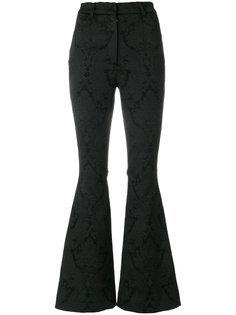 расклешенные брюки с цветочным узором Dolce & Gabbana