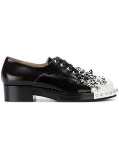 туфли на шнуровке с отделкой  Nº21