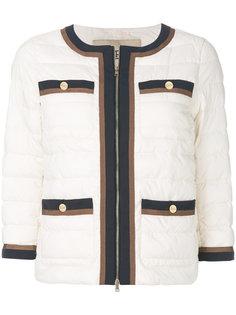 стеганый укороченный пиджак Herno