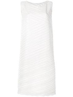 плиссированное платье-шифт Issey Miyake
