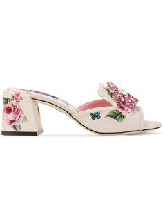 босоножки на каблуках-столбиках Dolce & Gabbana
