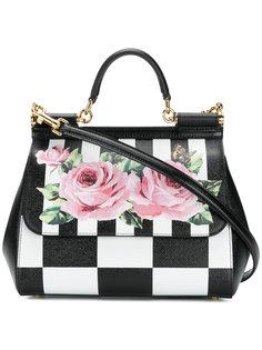 сумка на плечо в клетку Sicily  Dolce & Gabbana