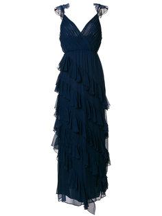 длинное платье с рюшами Alice+Olivia