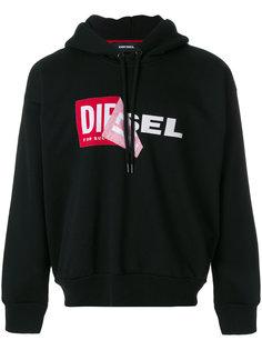 толстовка с капюшоном с логотипом Diesel