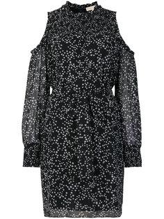 платье с вырезами на плечах и принтом звезд Michael Michael Kors
