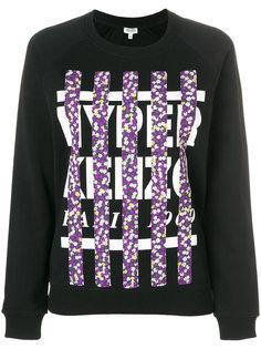 свитер с полосатым принтом-логотипом  Kenzo