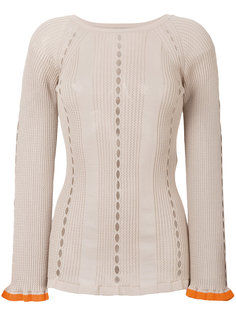 свитер с контрастными манжетами Fendi
