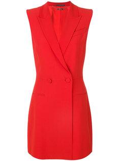 платье без рукавов с лацканами  Alexander McQueen
