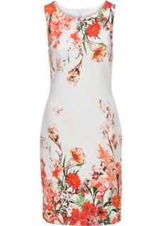 Цветочное платье (белый/красный) Bonprix