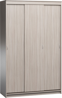 Шкаф купе Эконом-180-240 Ясень Шимо без зеркал 3 двери