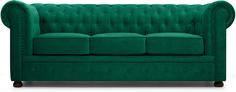 Диван Честер-3 Velvet Emerald
