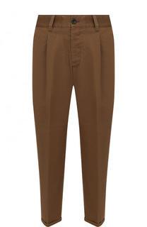 Хлопковые укороченные брюки прямого кроя PT01