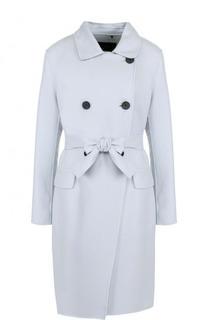 Шерстяное двубортное пальто с поясом Windsor