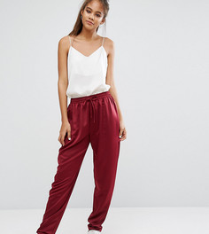 Атласные брюки-галифе ASOS TALL - Красный