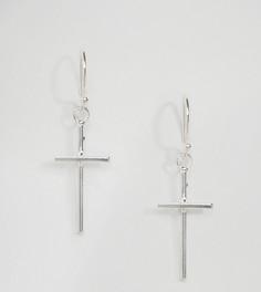 Серебряные серьги-подвески с крестом Kingsley Ryan - Серебряный