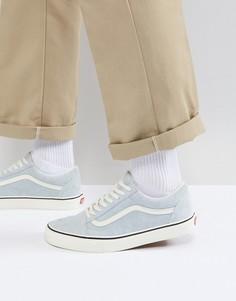 Голубые кроссовки Vans Old Skool VA38G1QVP - Синий