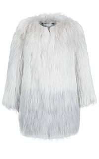 Легкая шуба из вязаного меха енота Virtuale Fur Collection