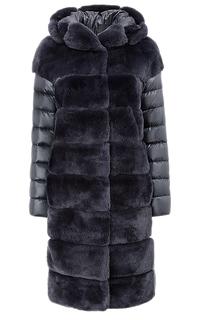 Шуба-пуховик из меха кролика Virtuale Fur Collection