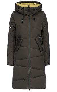 Пальто на искусственном пуху с капюшоном Clasna