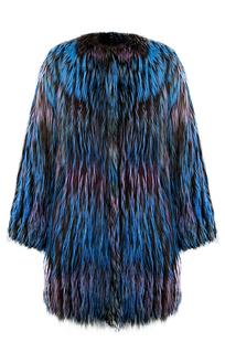 Жакет из серебристо-черной лисы Virtuale Fur Collection