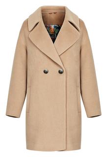 Двубортное шерстяное пальто La Reine Blanche