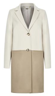 Стильное пальто из вирджинской шерсти с кашемиром Elema
