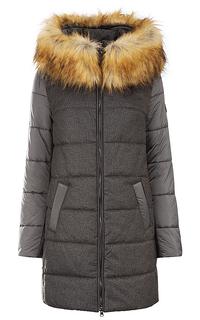 Пальто на синтепоне с отделкой искусственным мехом Madzerini