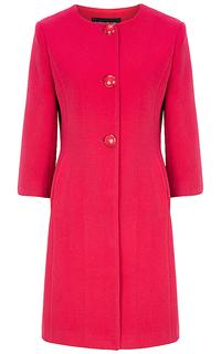 Приталенное розовое пальто La Reine Blanche