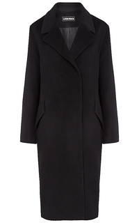 Классическое черное пальто La Reine Blanche