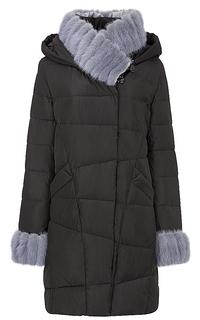 Утепленное пальто с отделкой мехом норки LE Monique