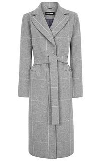 Женское шерстяное пальто с поясом La Reine Blanche