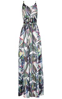 платье макси на тонких бретелях La Reine Blanche