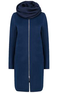 Пальто с трикотажным снудом Elema