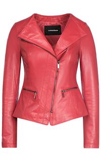 Коралловая кожаная куртка La Reine Blanche