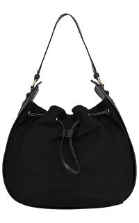 Комбинированная сумка из натуральной кожи и замши La Reine Blanche