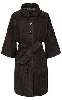 Пальто из натуральной замши La Reine Blanche